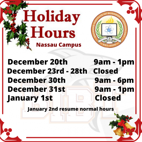 2019 Xmas Holiday Hours